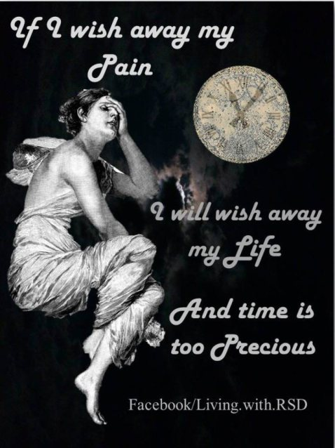 "If I wish away my pain, I will wish away my life. And time is too precious. | ""A Word on Time"" article about chronic pain slowing down time. And how that can be a benefit to cherishing small moments in life. #Spoonie #Pain #ChronicPain #RSD #CRPS #CFS #MS #Fibromyalgia #Arthritis #abodyofhope #Migraine"