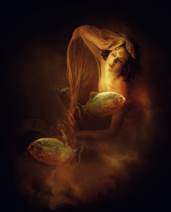 "Portrait of a Lady with Fishes by Amandine Van Ray | ""Chronic Fatigue Syndrome gets a Make-Over"" #CFS #ME #Spoonie #SEID"