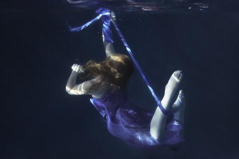 The Blue Ribbon © Sarah Allegra, Model: Katie Johnson.  ME's awareness ribbon color is blue.